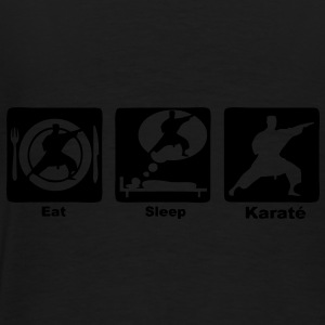 karate eat sleep play Sacs - T-shirt Premium Homme