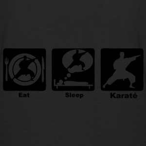 karate eat sleep play Sacs - T-shirt manches longues Premium Homme