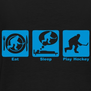 hockey eat sleep play Sacs - T-shirt Premium Homme