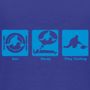 curling eat sleep play Sacs - T-shirt Premium Homme