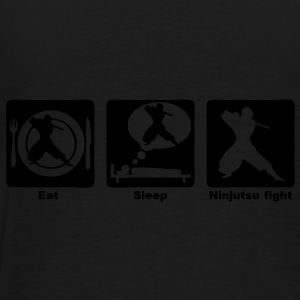 ninjutsu fight eat sleep play1 Sacs - T-shirt Premium Homme
