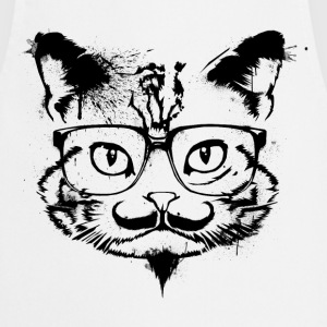 Hipster Cat - Shirt - Cooking Apron