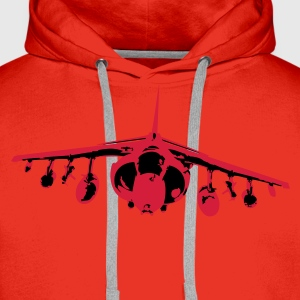 Harrier Barrel Roll - White/Black - Men's Premium Hoodie