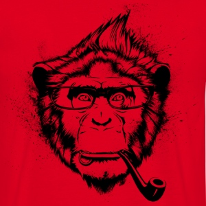 Red Ironic Chimp Shirt Hoodies & Sweatshirts - Men's T-Shirt