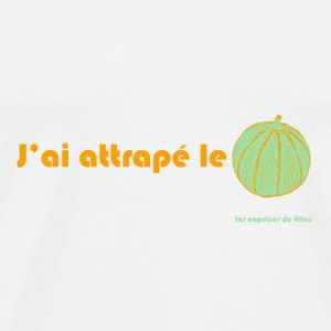 j'ai attrapé le melon Badges - T-shirt Premium Homme