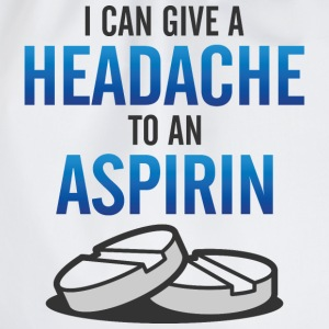 Give Headache To Aspirin 3 (dd)++ Sweatshirts - Sportstaske