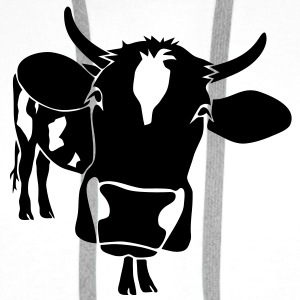 cow bull ox milk farmer farm country cows dairy pregnant milker beef steak Bags  - Men's Premium Hoodie