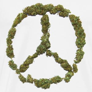 Weed and Worldpeace - Männer Premium T-Shirt