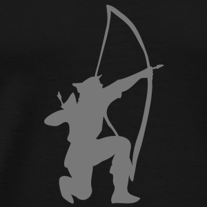 archer longbow kneeling stance by patjila Underwear - Men's Premium T-Shirt