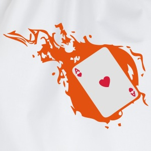 carte poker card as flamme coeur1 Tee shirts - Sac de sport léger