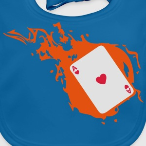 carte poker card as flamme coeur1 Tee shirts Enfants - Bavoir bio Bébé