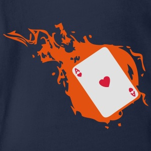 carte poker card as flamme coeur1 Sweats Enfants - Body bébé bio manches courtes