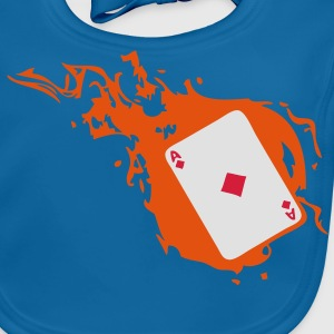 carte poker card as flamme carreau1 Tee shirts Enfants - Bavoir bio Bébé