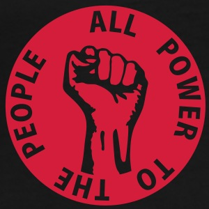 1 colors - all power to the people - against capitalism working class war revolution Taschen - Männer Premium T-Shirt