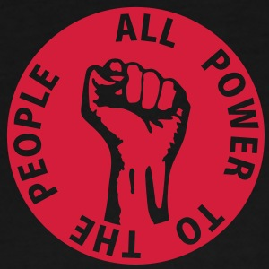 1 colors - all power to the people - against capitalism working class war revolution Bags  - Men's Premium T-Shirt