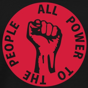1 colors - all power to the people - against capitalism working class war revolution Felpe - Maglietta Premium da uomo