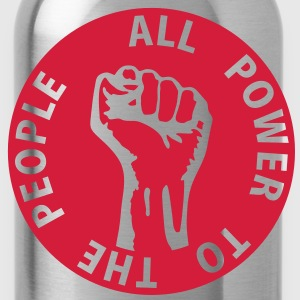 1 colors - all power to the people - against capitalism working class war revolution T-Shirts - Water Bottle