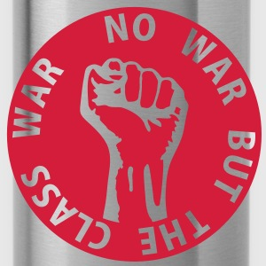 1 color - no war but the class war - against capitalism working class war revolution Borse - Borraccia