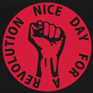 1 color - nice day for a revolution - against capitalism working class war revolution Taschen - Männer Premium T-Shirt