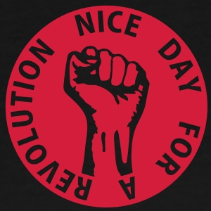 1 color - nice day for a revolution - against capitalism working class war revolution Tassen - Mannen Premium T-shirt