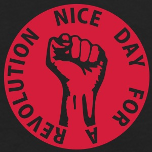 1 color - nice day for a revolution - against capitalism working class war revolution Tasker - Herre premium T-shirt med lange ærmer