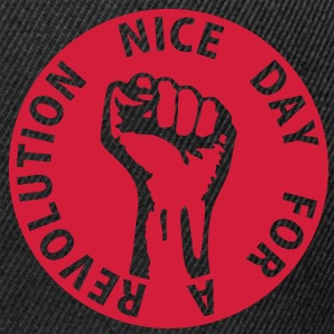1 color - nice day for a revolution - against capitalism working class war revolution Vestes & gilets - Casquette snapback