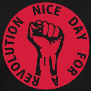 1 color - nice day for a revolution - against capitalism working class war revolution Pullover - Männer Premium T-Shirt