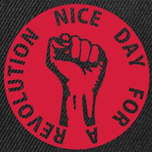 1 color - nice day for a revolution - against capitalism working class war revolution Felpe - Snapback Cap
