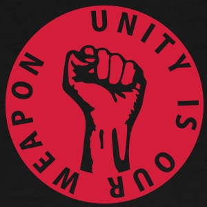 1 color - unity is our weapon - against capitalism working class war revolution Bags  - Men's Premium T-Shirt
