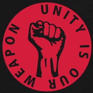 1 color - unity is our weapon - against capitalism working class war revolution Torby - Koszulka męska Premium