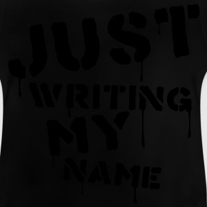 Noir Just writing my name Tee shirts Enfants - T-shirt Bébé