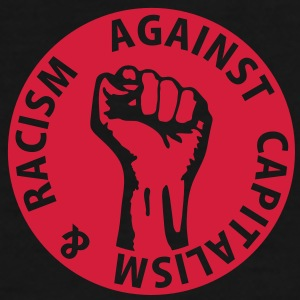 1 color - against capitalism & racism - against capitalism working class war revolution Sacs - T-shirt Premium Homme