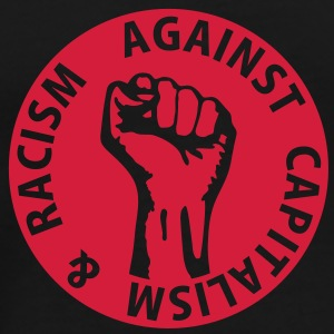 1 color - against capitalism & racism - against capitalism working class war revolution Felpe - Maglietta Premium da uomo