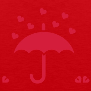 It's raining hearts solo T-shirt - Canotta premium da uomo