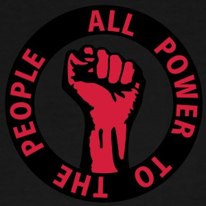 2 colors - all power to the people - against capitalism working class war revolution Bags  - Men's Premium T-Shirt