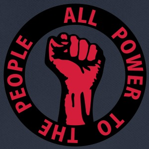2 colors - all power to the people - against capitalism working class war revolution Felpe - Maglietta da uomo traspirante