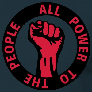 2 colors - all power to the people - against capitalism working class war revolution Jackor & västar - T-shirt herr