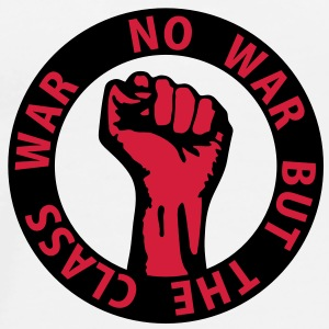 2 colors - no war but the class war - against capitalism working class war revolution Tröjor - Premium-T-shirt herr