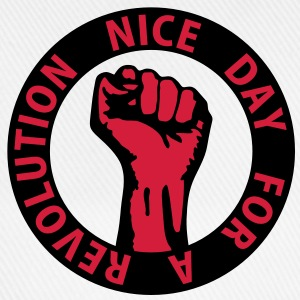 2 colors - nice day for a revolution - against capitalism working class war revolution T-shirts - Basebollkeps