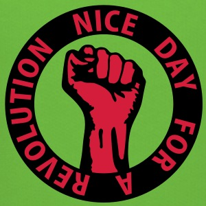 2 colors - nice day for a revolution - against capitalism working class war revolution T-Shirts - Kinder Premium Hoodie