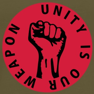2 colors - unity is our weapon - against capitalism working class war revolution Väskor - Premium-T-shirt herr