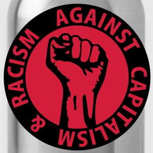 2 colors - against capitalism & racism - against capitalism working class war revolution Bags  - Water Bottle