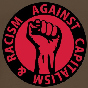 2 colors - against capitalism & racism - against capitalism working class war revolution Bags  - Men's Premium T-Shirt