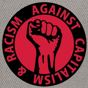 2 colors - against capitalism & racism - against capitalism working class war revolution Bags  - Snapback Cap