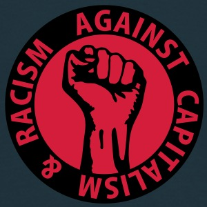 2 colors - against capitalism & racism - against capitalism working class war revolution Tröjor - T-shirt herr