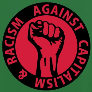 2 colors - against capitalism & racism - against capitalism working class war revolution Pullover - Männer Fußball-Trikot