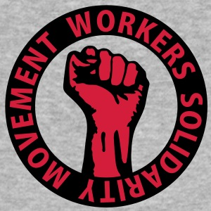2 colors - Workers Solidarity Movement - Working Class Unity Against Capitalism Tröjor - Slim Fit T-shirt herr