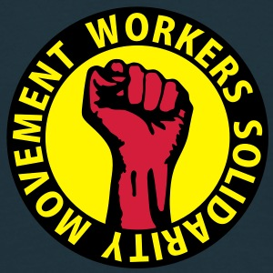 3 colors - Workers Solidarity Movement - Working Class Unity Against Capitalism Sudadera - Camiseta hombre