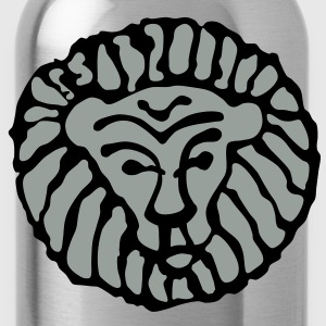 Orange lion - Water Bottle