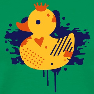 A duck with a crown as a graffiti  Aprons - Men's Premium T-Shirt